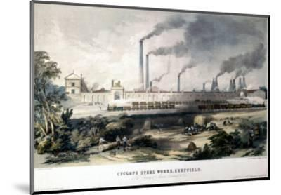 View on the Midland Railway, Cyclops Steel Works, Sheffield, c.1845--Mounted Art Print