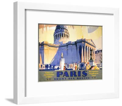 Paris, Short Sea Routes, SR, c.1932-Frederick Griffin-Framed Art Print