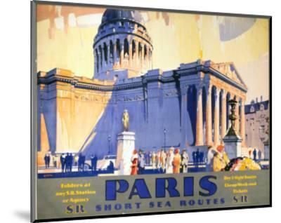 Paris, Short Sea Routes, SR, c.1932-Frederick Griffin-Mounted Art Print