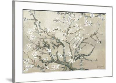 Almond Branches in Bloom, San Remy, c.1890 (tan)-Vincent van Gogh-Framed Premium Giclee Print