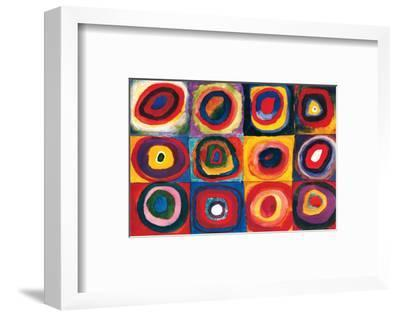 Color Study of Squares-Wassily Kandinsky-Framed Premium Giclee Print