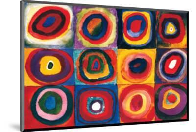 Color Study of Squares-Wassily Kandinsky-Mounted Premium Giclee Print