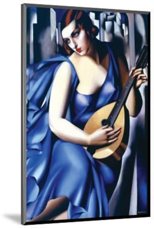 Femme en Bleu Avec Guitare-Tamara de Lempicka-Mounted Premium Giclee Print
