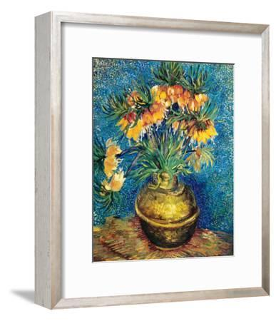 Crown Imperial Fritillaries in a Copper Vase, c.1886-Vincent van Gogh-Framed Premium Giclee Print