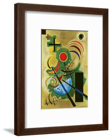 Solid Green-Wassily Kandinsky-Framed Premium Giclee Print