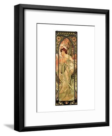 Evening-Alphonse Mucha-Framed Premium Giclee Print