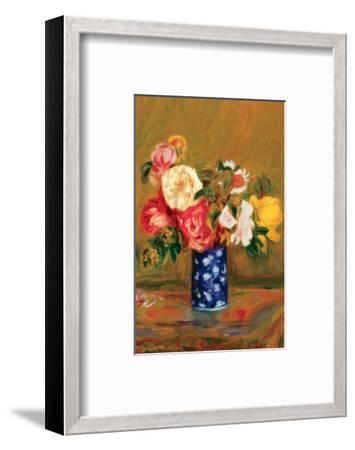 Roses in a Vase-Pierre-Auguste Renoir-Framed Premium Giclee Print