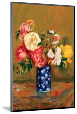 Roses in a Vase-Pierre-Auguste Renoir-Mounted Premium Giclee Print