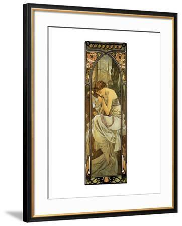 Night-Alphonse Mucha-Framed Premium Giclee Print