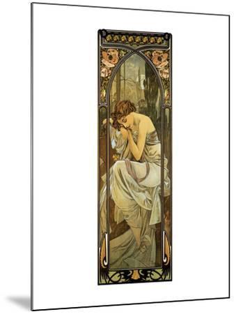Night-Alphonse Mucha-Mounted Premium Giclee Print
