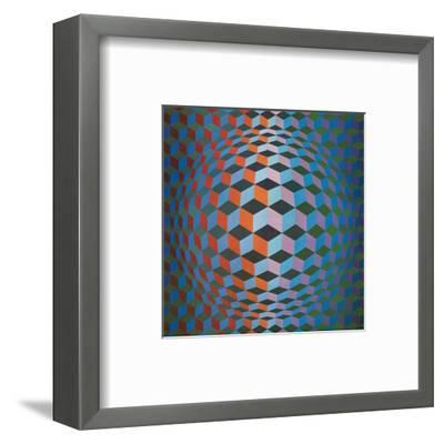 Squares-Victor Vasarely-Framed Premium Giclee Print