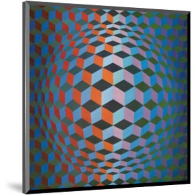 Squares-Victor Vasarely-Mounted Premium Giclee Print