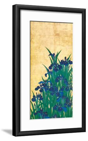 Irises, Japanese-Ogata Korin-Framed Premium Giclee Print
