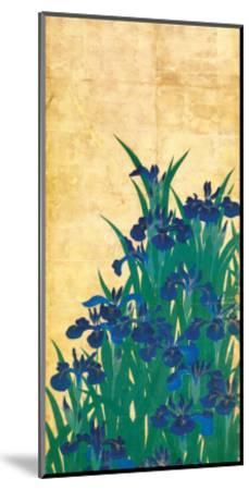 Irises, Japanese-Ogata Korin-Mounted Premium Giclee Print