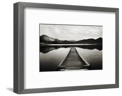 Emigrant Lake Dock I in Black and White-Shane Settle-Framed Premium Giclee Print