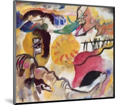 Improvisation No. 27 (The Garden of Love), c.1912-Wassily Kandinsky-Mounted Premium Giclee Print