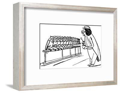 There Was An Old Man of Dumbree, Who Taught Little Owls to Drink Tea-Edward Lear-Framed Premium Giclee Print