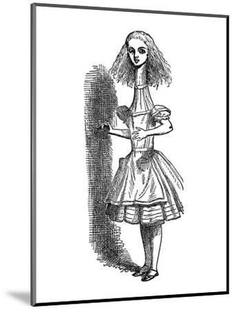 Alice's Adventure's in Wonderland-John Tenniel-Mounted Premium Giclee Print