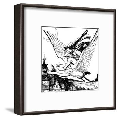 The Wonder Clock-Howard Pyle-Framed Premium Giclee Print