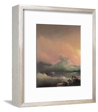 The Ninth Wave (left detail)-Iwan Konstantinowitsch Aiwasowskij-Framed Premium Giclee Print