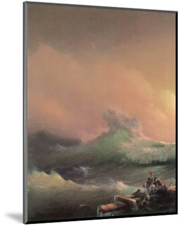 The Ninth Wave (left detail)-Iwan Konstantinowitsch Aiwasowskij-Mounted Premium Giclee Print