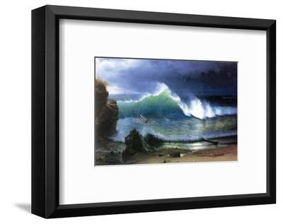 Coast of Emerald Lake-Albert Bierstadt-Framed Premium Giclee Print