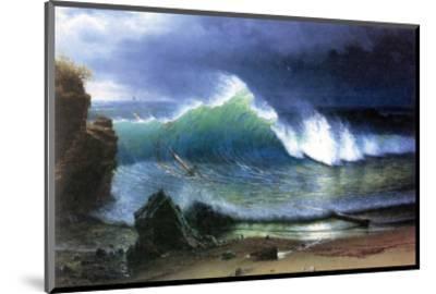 Coast of Emerald Lake-Albert Bierstadt-Mounted Premium Giclee Print