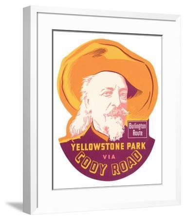 Yellowstone Park Via Cody Road--Framed Premium Giclee Print