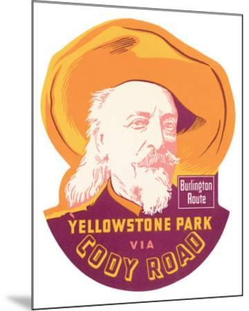 Yellowstone Park Via Cody Road--Mounted Premium Giclee Print