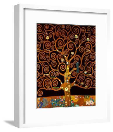 Under the Tree of Life-Gustav Klimt-Framed Premium Giclee Print