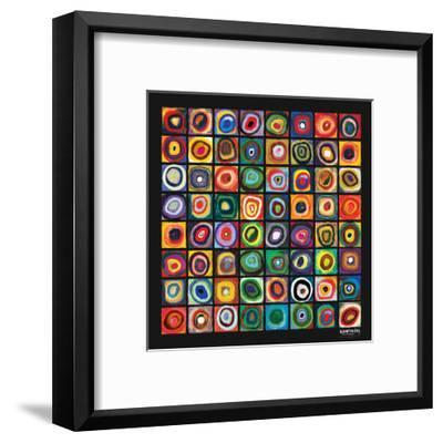 Color of Squares-Wassily Kandinsky-Framed Premium Giclee Print