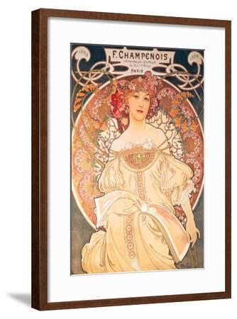 F. Champenois, France, 1898-Alphonse Mucha-Framed Premium Giclee Print