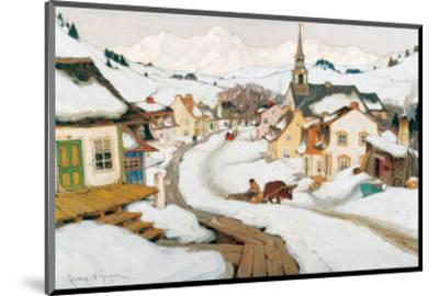 Village in the Laurentians-Clarence Alphonse Gagnon-Mounted Premium Giclee Print