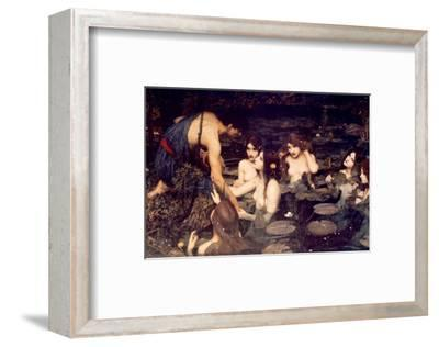 Hylas and Nymphs-John William Waterhouse-Framed Premium Giclee Print