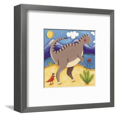 Baby Izzy the Iguanodon-Sophie Harding-Framed Art Print