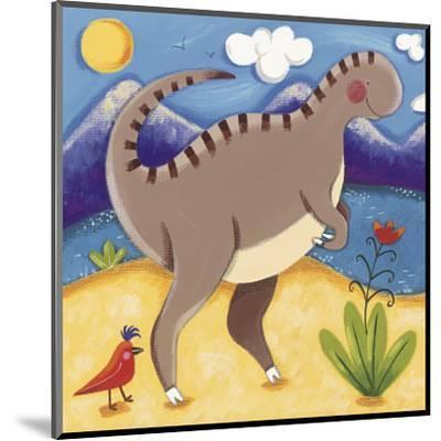 Baby Izzy the Iguanodon-Sophie Harding-Mounted Art Print