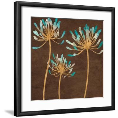 Teal Bloom I-Erin Lange-Framed Art Print