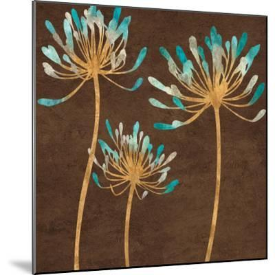Teal Bloom I-Erin Lange-Mounted Art Print