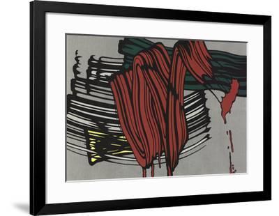 Big Painting #6-Roy Lichtenstein-Framed Serigraph