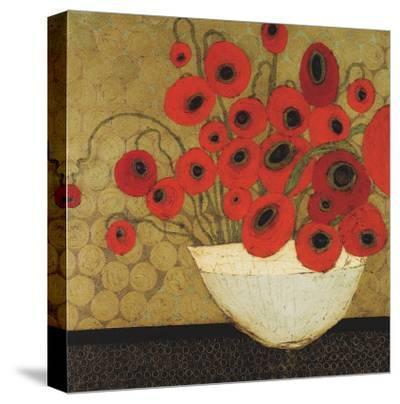 Frida's Poppies-Karen Tusinski-Stretched Canvas Print