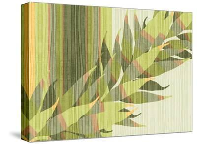 Water Leaves II-Mali Nave-Stretched Canvas Print