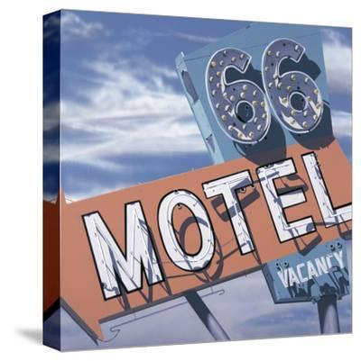 66 Motel-Anthony Ross-Stretched Canvas Print