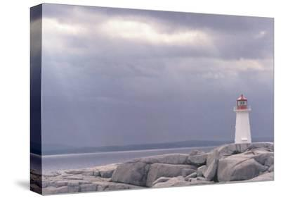 Lighthouse, Nova Scotia-Art Wolfe-Stretched Canvas Print