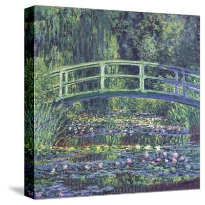 Water Lily Pond, c.1899 (blue)-Claude Monet-Stretched Canvas Print