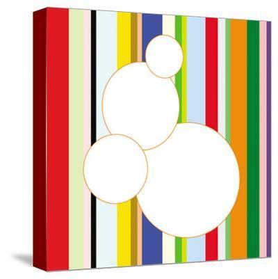 White Bubble on Stripe (detail)-Dan Bleier-Stretched Canvas Print