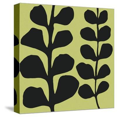 Black Fern on Green-Denise Duplock-Stretched Canvas Print