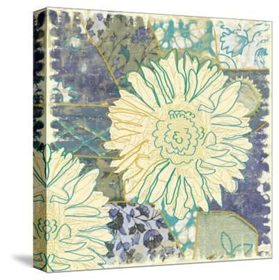 Flower with Fabric-Erin Clark-Stretched Canvas Print