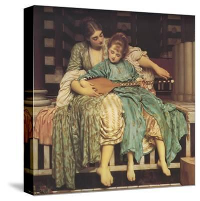 Music Lesson-Frederick Leighton-Stretched Canvas Print
