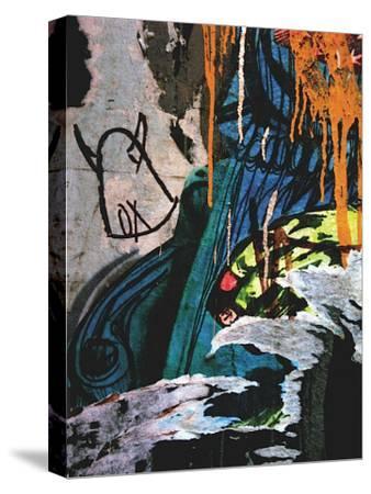 Blue Orange Layers II-Jenny Kraft-Stretched Canvas Print