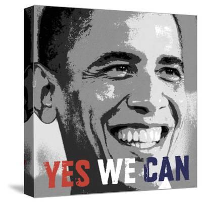 Barack Obama: Yes We Can-Celebrity Photography-Stretched Canvas Print